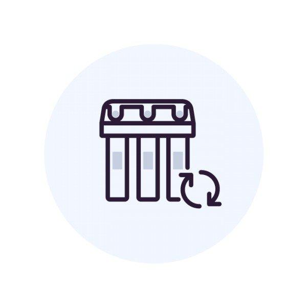 Промывка емкости со смолой ВатерБосс (WaterBoss)
